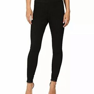 Hue Solid Lace Legging Stretch Comfortable Black